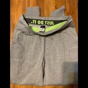 Gray Nike Dri-Fit women's sweatpants size L.